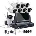 4CH 8CH 720 P 960 P 7 Polegada Displayer Sistema de CCTV Sem Fio