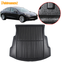 Buildreamen2 Car Rear Trunk Mat Floor Tray Boot Liner Cargo Mud Carpet Pad Accessories For Tesla Model 3