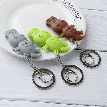 New Creative Small Size Lovely Crocodile Shape LED Toys with Sound Mini Torch Flashlight Kids Funny Gags Toy Play Lovely Gift new led flashlight keychina with sound action toy figures raving rabbids keychain toys gift for child kids toys