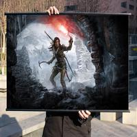 Tomb Raider 10 Rise HD Game Movie Wall Scrolls Poster Bar Cafes Home Decor Banners
