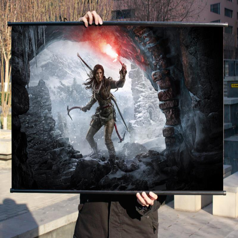 Tomb Raider 10 Rise Hd Game Movie Wall Scrolls Poster Bar Cafes