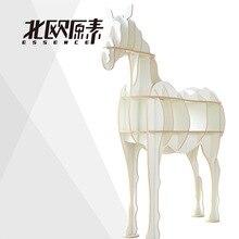 Скандинавском стиле творческие идеи животное лошадь книжная полка творческий Nordic стиль стеллажи декоративные полки hotel restaurant decor