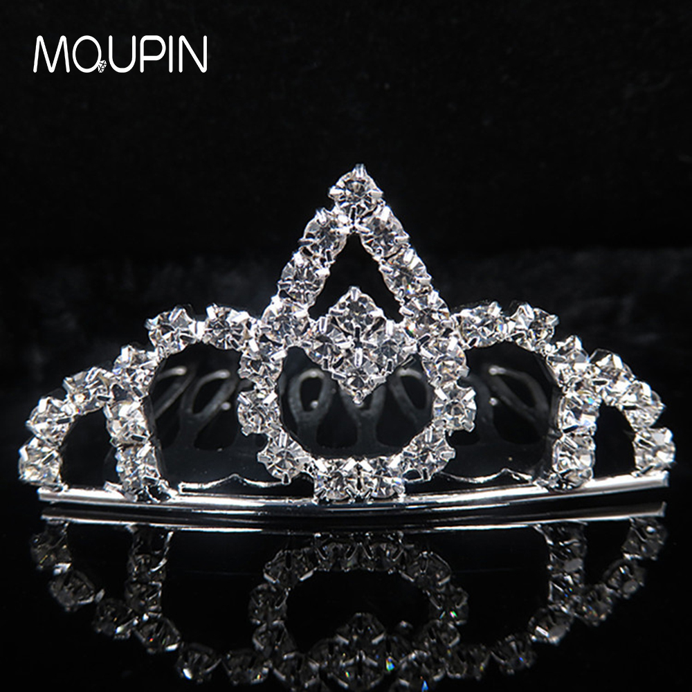 MQUPIN Princess Crystal Tiaras and Crowns Headband shape big water drop Bridal Crown Wedding Party Accessories Hairwear Jewelry