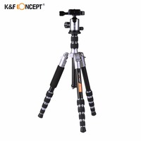 K F CONCEPT Lightweight Camera Tripod Of Flexible Carbon Fiber With 2 Section Center Column 5