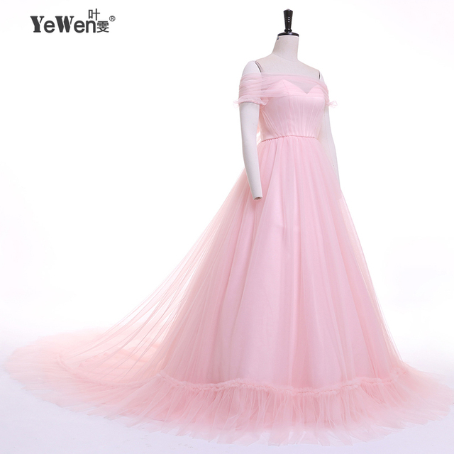 plus size Vestido de noiva longo New arrive pink Wedding Dresses ...