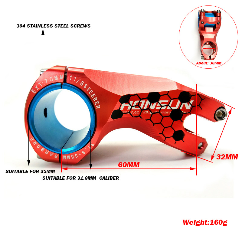 Cool design CNC 31.8mm/35mm Alloy MTB BMX DH FR Fixed Gear Downhill Bike Handlebar Stem 17 Degree Mountain Bicycle Stem Clamp|bicycle stem|bike handlebar stemsstem -17 - AliExpress