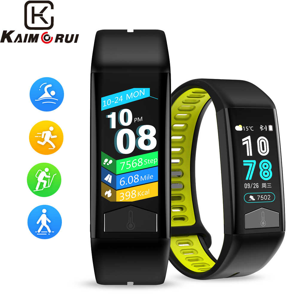 Smart Wristband Heart Rate ECG Smart Band IP68 Bluetooth Smart Bracelet Body Temperature Monitor Fitness Band for Android IOS