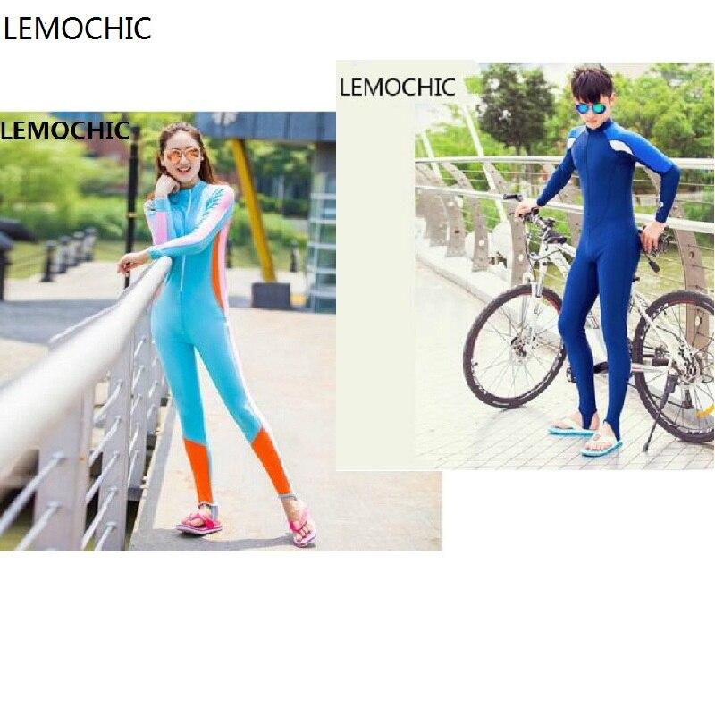 LEMOCHIC Summer long sleeve diving suit men women children One-Piece Swimwear Scuba dive Wet suit Lovers Wetsuit Equipment