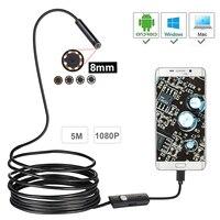 1080 P Full HD USB андроид эндоскоп Камера IP67 1920*1080, 1 м, 2 м, 5 м Micro Inspection видео Камера с объективом камеры бороскоп WiFi трубки
