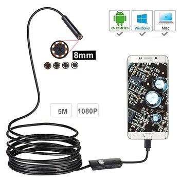 1080P Volle HD USB Android Endoskop Kamera IP67 1920*1080 1M 2M 5M Micro Inspektion video Kamera Schlange Endoskop Rohr