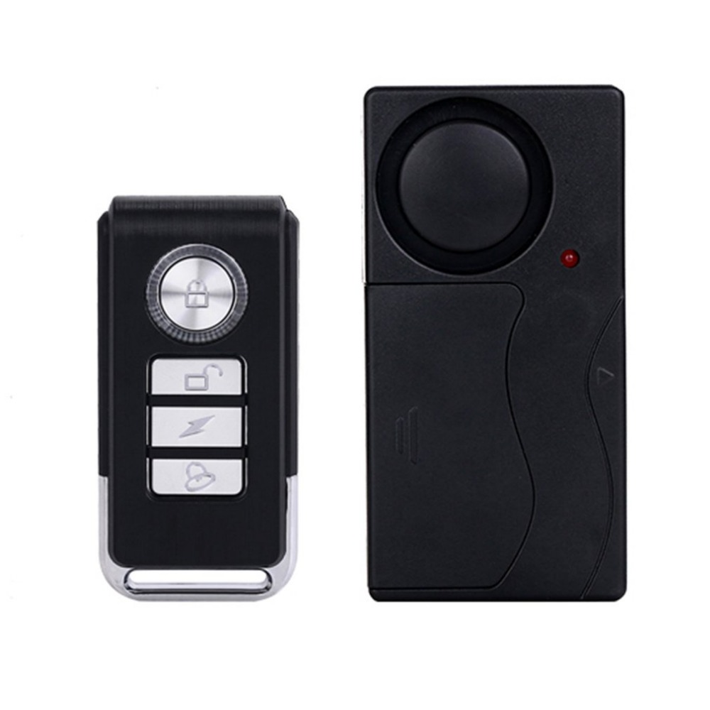 Practical Wireless Remote Control Vibration Alarm Sensor Door Window Car Home House Security Sensor Detector wireless remote control vibration security alarm independly door window detector black