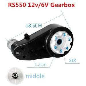 12V 20000RPM 12V para ni/ños Coche de juguete 12000-20000RPM Caja de engranajes del motor el/éctrico RS390 6V
