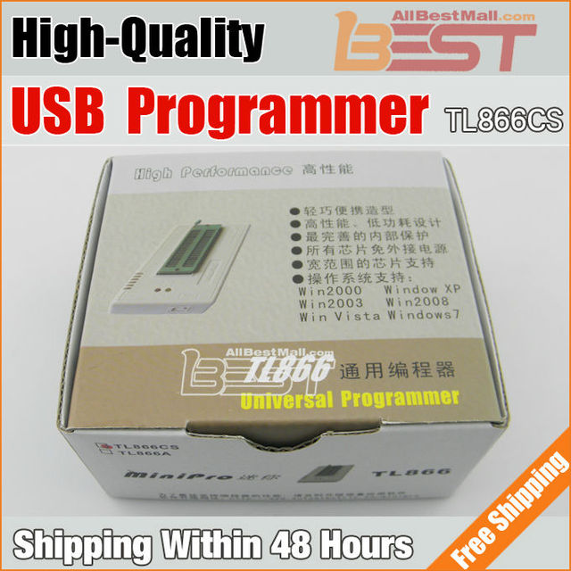 Free Shipping USB MiniPro TL866 Universal Programmer High Performance TL866cs Willem Bios Programme support about 13000 chips/IC