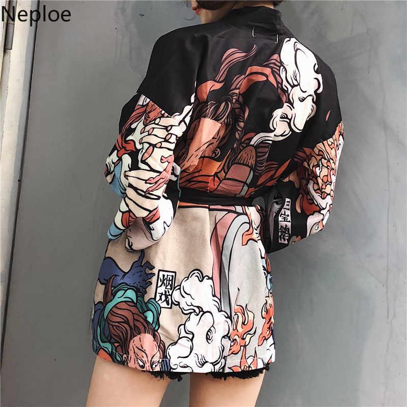 Neploe 日本の着物カーディガンヴィンテージ原宿伝統浴衣女性シャツ夏プラスサイズ着物女性ブラウス 37768