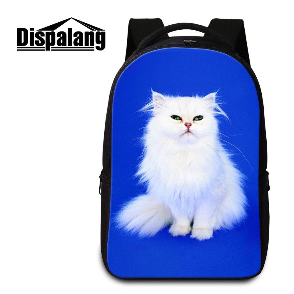 3D impression chat Sac à Dos pour ordinateur portable pour les femmes en plein air voyage Sac à bandoulière Sac à Dos personnalisé Sac d'école pour collège Mochilas Sac à Dos