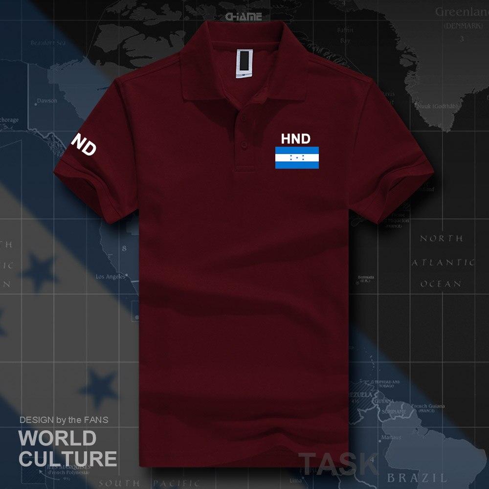Honduras   polo   shirts men short sleeve white brands printed for country 2017 cotton nation team flag new HND Honduran Catracho
