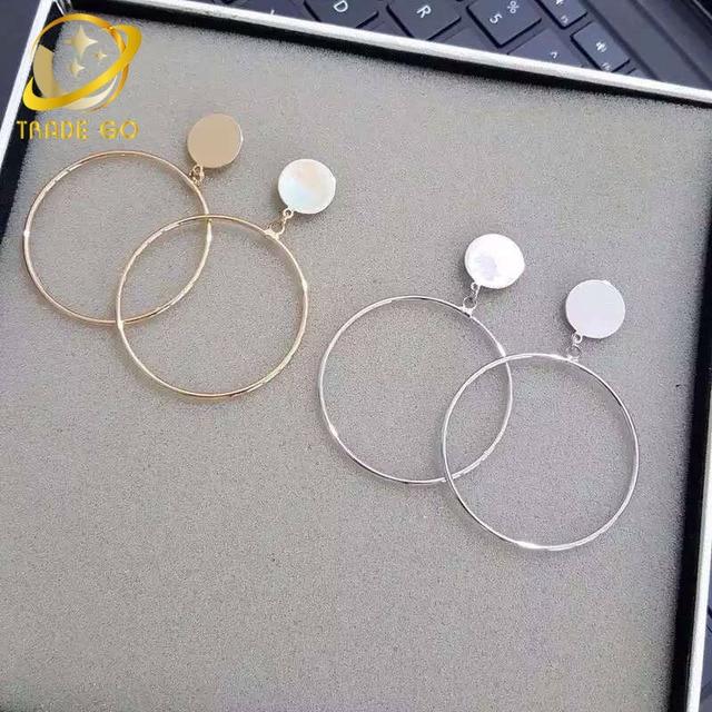 big hoop earrings for women silver gold color hoops orecchini cerchio boucles d'