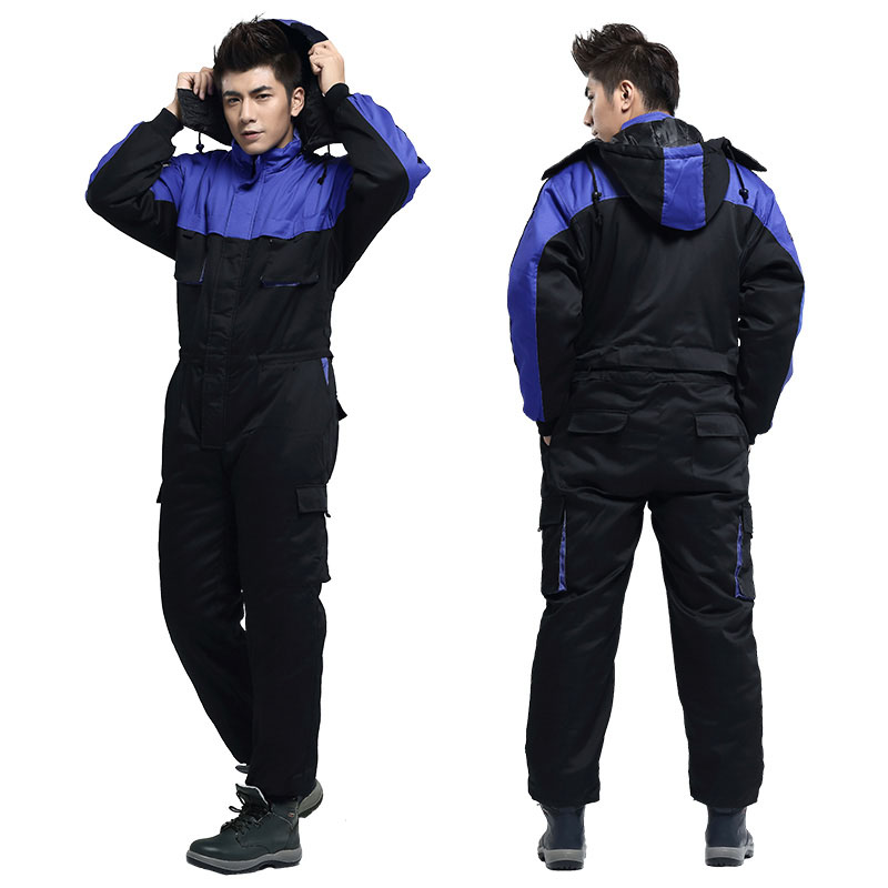 Hommes Vêtements de Travail Hiver Chaud Coupe-Vent Salopette En Plein Air Pêche Ski Froid de stockage Vêtements de Travail À Manches Longues Combinaisons