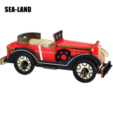 3D Wooden Puzzle Model For Adult Children Intellectual Development Educational Toys Classic Cars Wood Jigsaw Toy