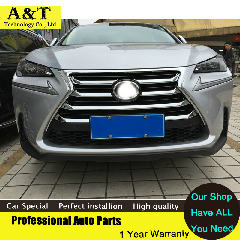 7PCS Chrome Front Grille Around cover trims 2015-2017 For Lexus NX200 NX300H high quality chrome stickers trim car styling high quality for toyota highlander 2015 2016 car cover bumper engine abs chrome trims front grid grill grille frame edge 1pcs