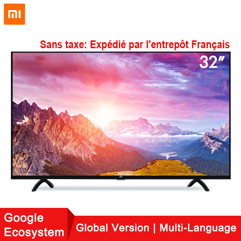 Xiaomi Smart TV Set 4A 32 pollici 1366x768 Televisione 64-bit quad-core di Intelligenza Artificiale HDMI WIFI 1 GB + 4 GB gioco display