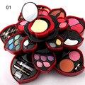 Top Quality big makeup set sets Eye shadow + Powder + Blush + Lip Gloss + Eyeliner Big Plum Flower Rotating Cartridge cosmetics