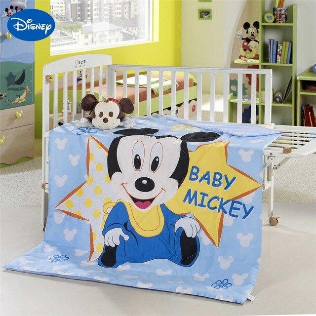 f3d4204846e8f Mickey Mouse lit bébé couette édredons Disney literie coton Wowen 120 150  CM bébé garçons