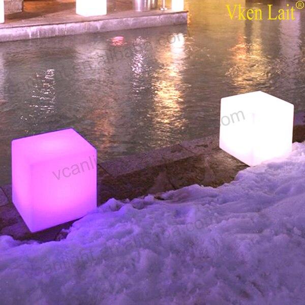 8 PCS/lot 20*20*20 cm Couleur Changeante lumière LED waterproof Cube VC-G2020 - 4
