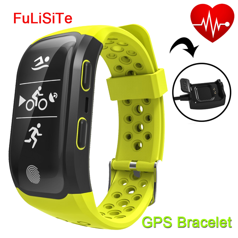 Smart Band Heart Rate Monitor GPS IP68 Waterproof Bluetooth Wristband Gsensor Alarm Clock Run Sport Smart