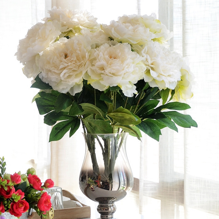 Online Shop Single 5 Head Peony Artificial Flowers Large Peony Living Room  Flower Decorations | Aliexpress Mobile