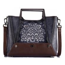 Luxury Brand Designer Handbags Women Bags Cow Genuine Leather Bag For Women Tassel Shoulder Flower Bag Sac Main Female CrossBody