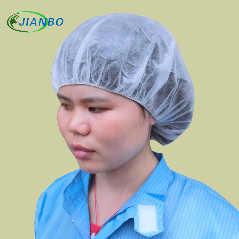 100PCS Non-woven Disposable Shower Caps Pleated Anti Dust Hat Women Men Bath Caps for Spa Hair Salon Beauty Accessories Hard Hat 100x white disposable hair dust net caps stretch non woven bouffant spa tan cap