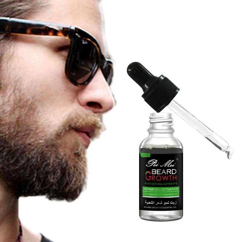 New Barbe Beard Essentital Oil Beard Growth Enhancer Pure Natural Nutrients Beard Oil for Men Facial Nutrition Beard Care Kit 2