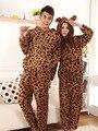 Camisa Calças Dos Homens das mulheres Coral de Veludo Pijamas Leopardo Terno de Flanela Com Capuz de Inverno Com Capuz Grosso Quente Casual