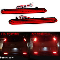 High Quality For 2007 Honda Odyssey LED Red Rear Bumper Reflectors Light Brake Parking Warning Night
