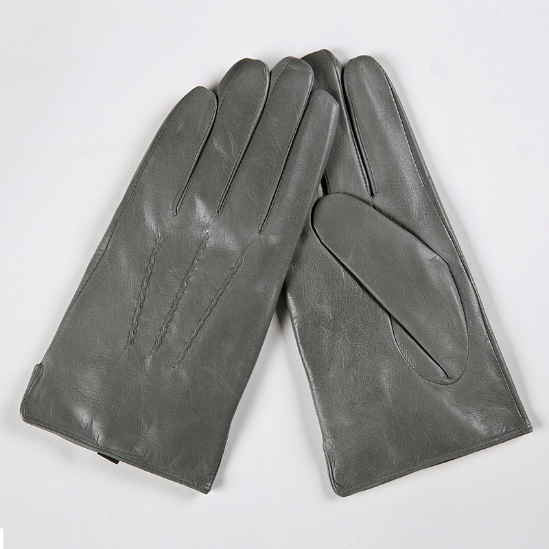 Image 3 - Gours Winter Genuine Leather Gloves Men New Brand Black Fashion Warm Driving Gloves Goatskin Mittens Guantes Luvas GSM015-in Men's Gloves from Apparel Accessories