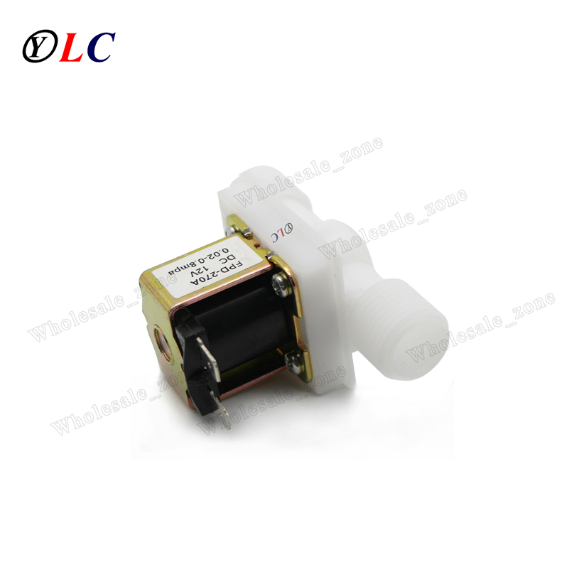 "1/2 inch Normally Closed Draw Off & inflow Water Electric Solenoid Valve 1/2"" DC 12V Switch for Water dispenser  ID=15mm,OD=20mm"