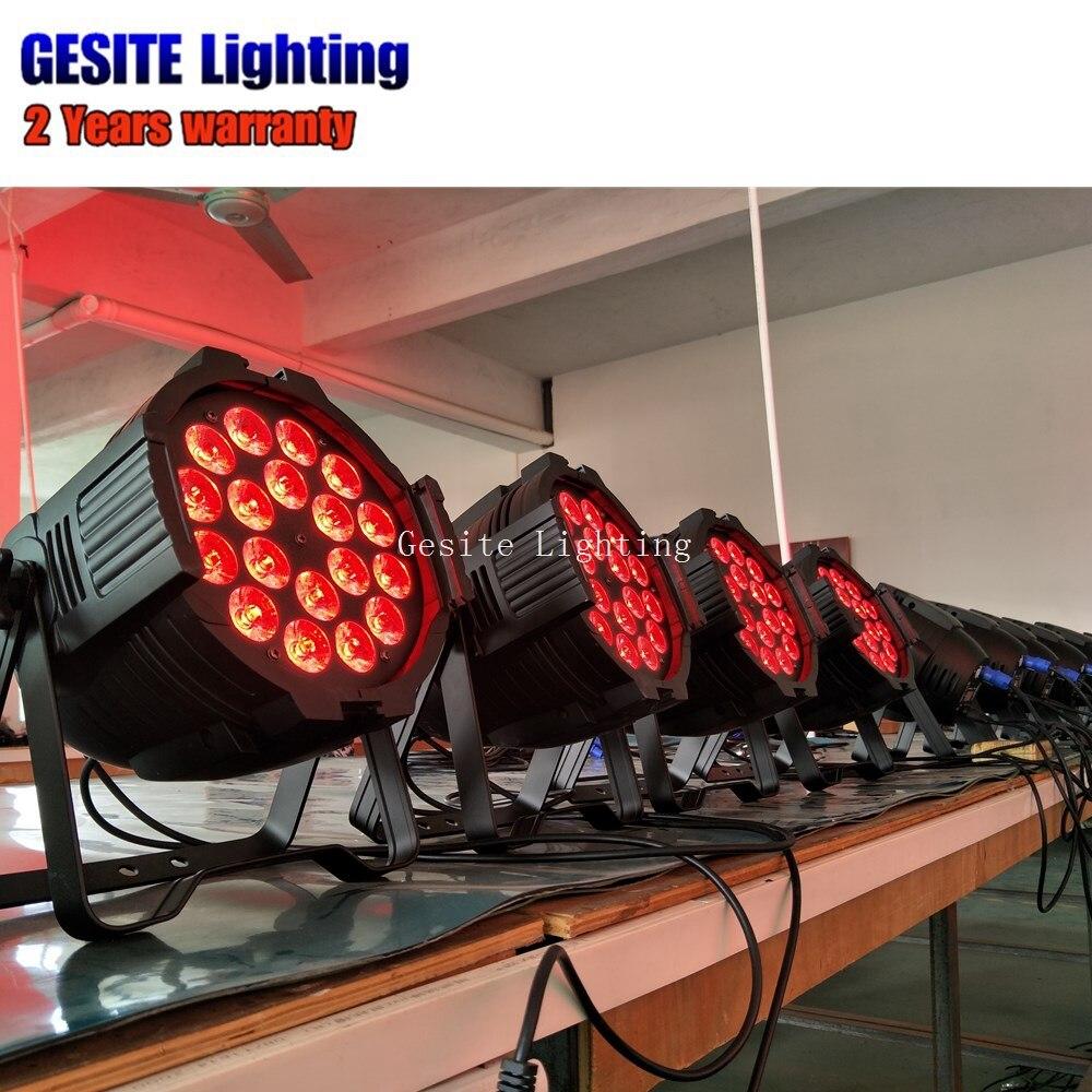 8 pçslote Mini LED Par Pode 18x18
