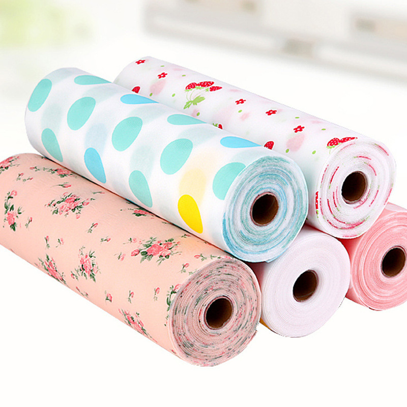 Free Cutting Rose Moistureproof Cabinet Mat Drawer Waterproof Skidproof Pad Kitchen Stickers Home Wardrobe Pad Shoes Cabinet Mat