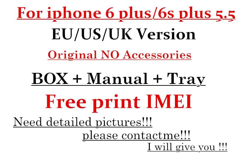 imágenes para 5 unids Alta Calidad EE. UU./EU/UK Cargador Versión En Caja de Embalaje de Papel Para el iphone 6 Plus/6 S Plus 5'5 Sin Accesorios