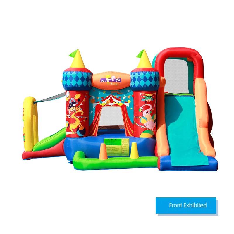 HTB1oZdPPFXXXXaAaXXXq6xXFXXXl - Mr. Fun Bouncy Castle Inflatable Bounce House Double Slide For Kids with Blower