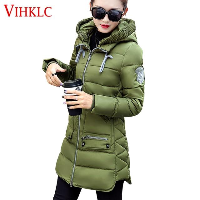 ba3aa2f009c86 Winter Jacket Coat Women 2017 New Hot Europe Style Hooded Slim Medium Long  Plus Size Parkas Lady Top female Coats XL-7XL D393