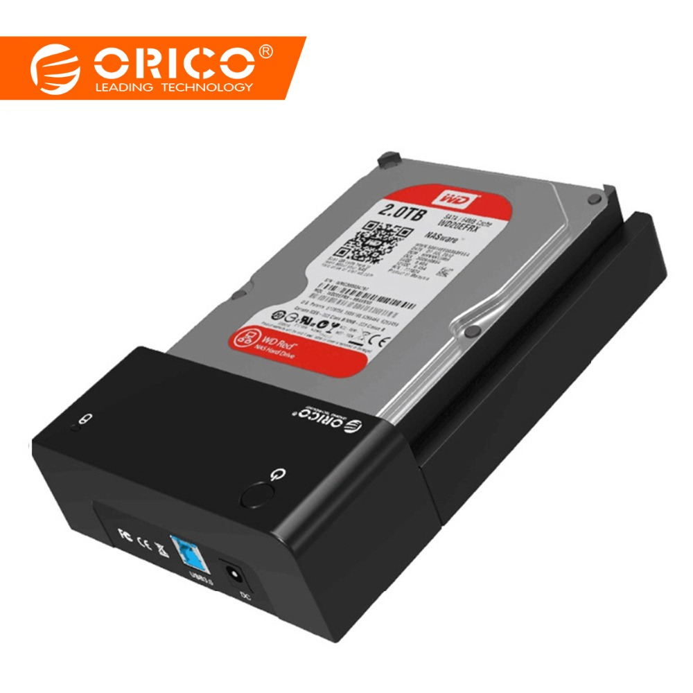 "ORICO 3.5 ""Tool Free HDD Enclosure USB3.0 a SATA Hard Disk Disk Case SSD Adaptador HDD Docking Station para hdd 2.5 Case 3.5 Box"
