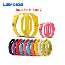 LEMDIOE 10PCS/Lot Colorful Replaceable Silicone Belt for Xiaomi Miband 2 Wristband Strap For Mi Band 2 Smart Bracelet
