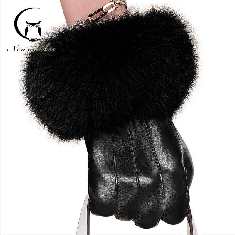 Leather Gloves Women Genuine Winter New s
