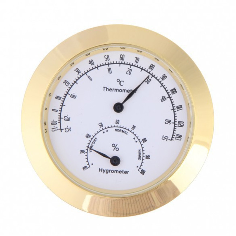 New High Quality Portable Thermometer Hygrometer Accuracy 4.3cm Mini Round Clock Weather Station Violin