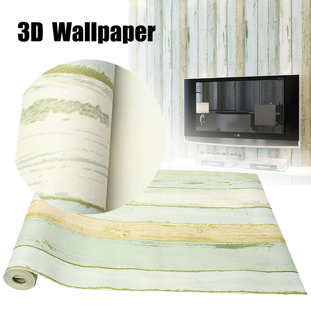 ef1dbbb79aa Vintage Retro Home Room Decoration 3D Wallpaper Roll Realistic Wood  Panelling Timber Plank Panel Stripe Wallpaper Sticker