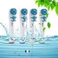 2016 hot sb417a rotativo dupla dean produto de substituição para braun oral b cabeça escova de dentes elétrica cabeças de escovas de higiene 4 pcs