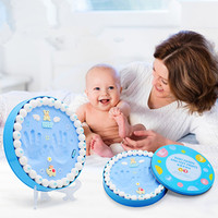 Baby Handprint Footprint Imprint Kit Newborn Gifts Drying Soft Clay Modeling Casting Parent child hand Inkpad