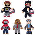 High quality 18-23cm Minecraft Steve Tube Heroes Plush Tube Heroes Dan TDM Captain Sparklez Sky Exploding Jeromeasf Stuffed Toy